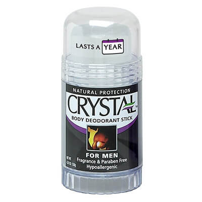 Crystal Rock Mineral Deodorant Stick for Men