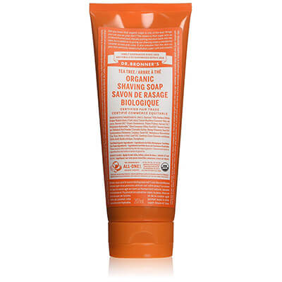 Dr. Bronner's Organic Shaving Soap Gel Tea Tree