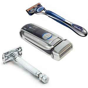 Manual Razor or Electric Shaver