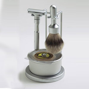 Find the lowest price for Merkur Futur 4 Piece Shaving Set- Satin Finish