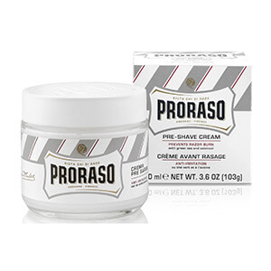 Proraso Anti Irritation Pre-shaving Cream with Aloe and Green Tea Hair Removal Products