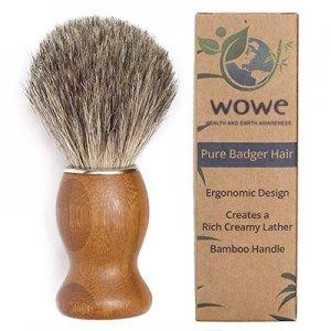 Pure Badger Hair Shaving Brush with Natural Bamboo Handle