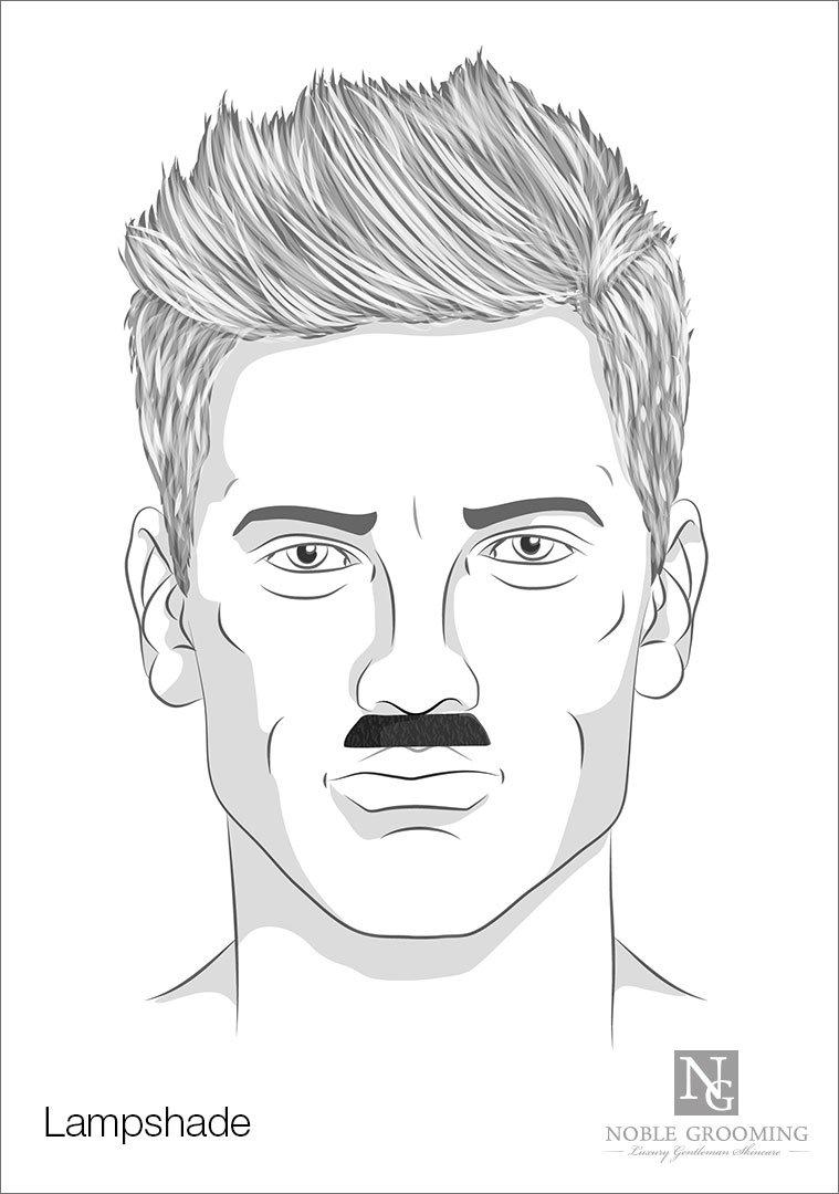 Lampshade Mustache