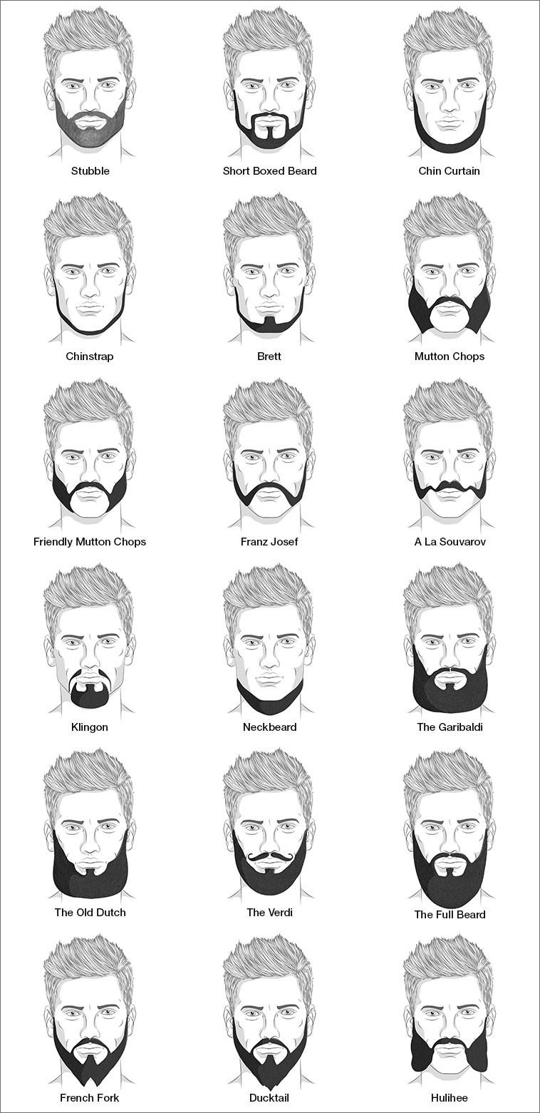 different styles of facial hair with pictures 18 beard styles for amp hair 4336 | mens beard styles