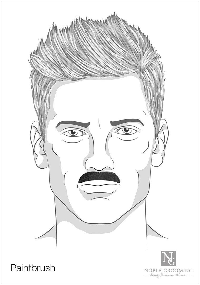 Paintbrush Mustache Style