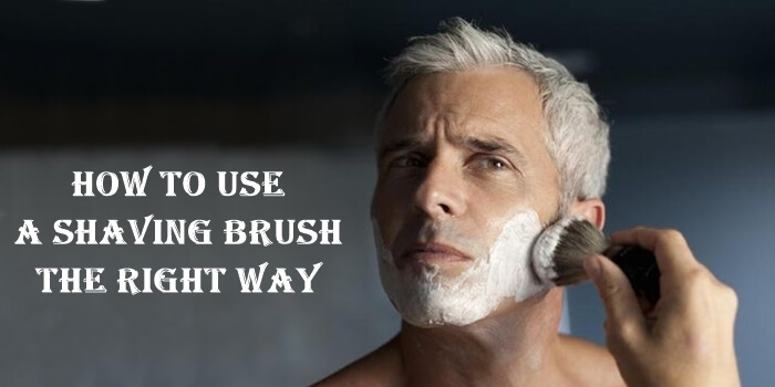 Use a shaving brush