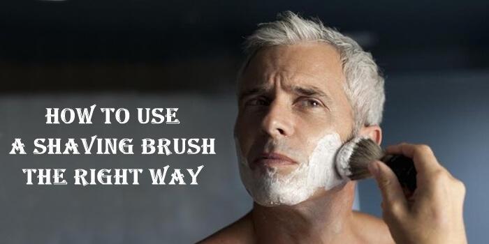 Use a shaving brush